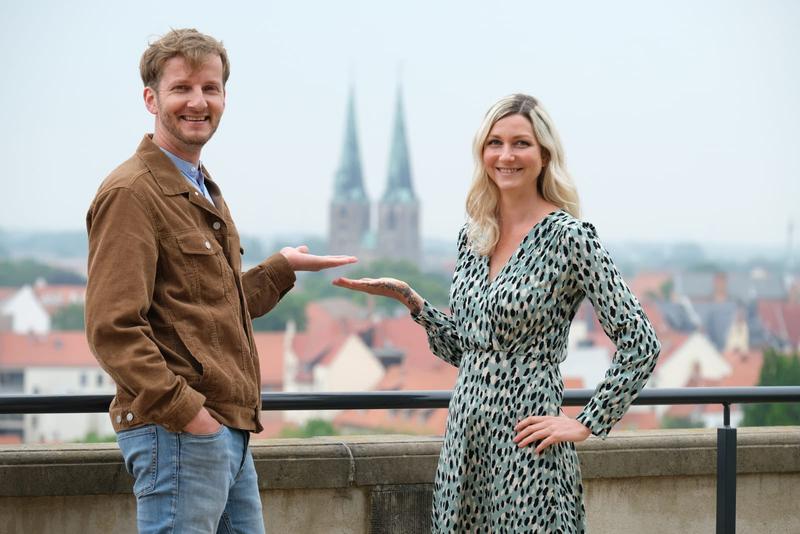 Einheitsbotschfter Falk Schuster und Kristin Knufmann